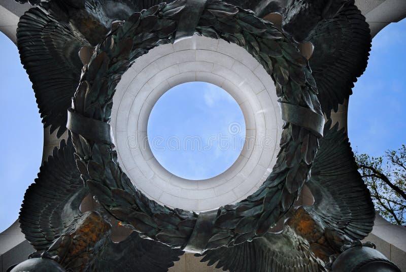 Mémorial atlantique de la deuxième guerre mondiale de voûte, Washington DC images libres de droits