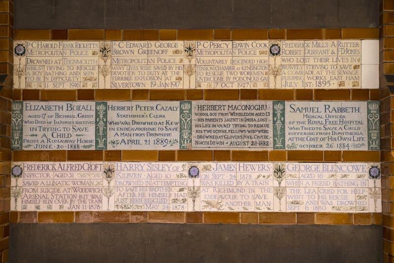 Mémorial au dévouement héroïque à Londres images stock