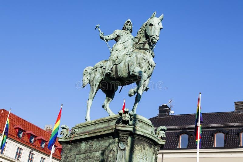 Mémorial au Roi Karl IX photo stock