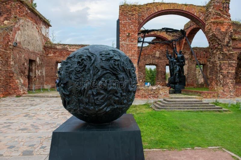 Mémorial aux défenseurs de la forteresse Oreshek photos stock