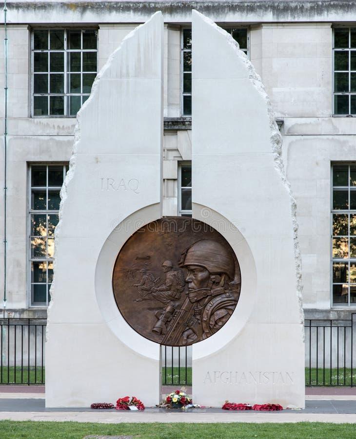 Mémorial aux forces armées qui ont combattu en Irak et Afganistan photographie stock libre de droits