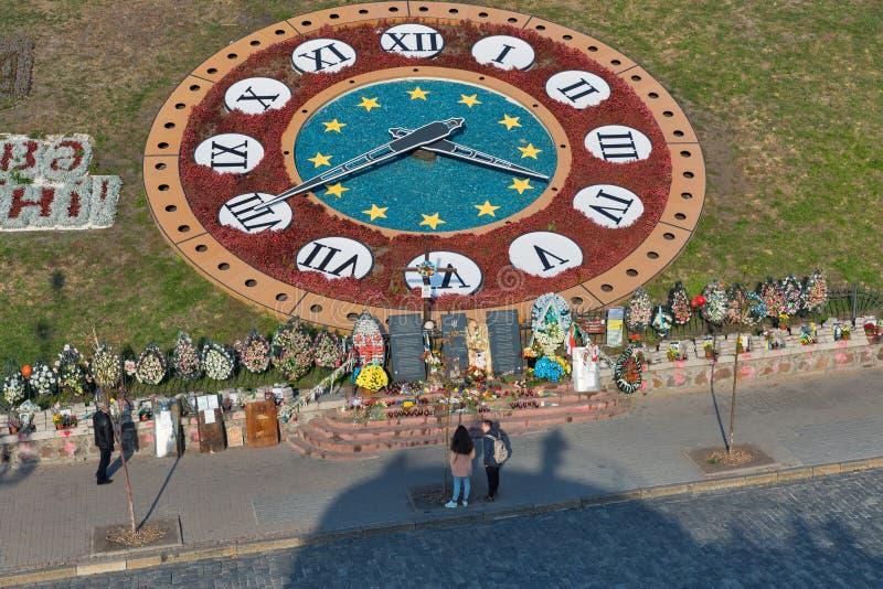 Mémorial aux gens tués pendant des protestations anti-gouvernement à Kiev, Ukraine photo libre de droits
