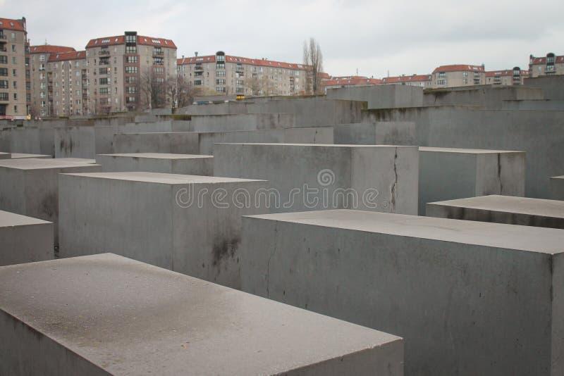Mémorial aux juifs assassinés de l'aperçu de l'Europe photographie stock