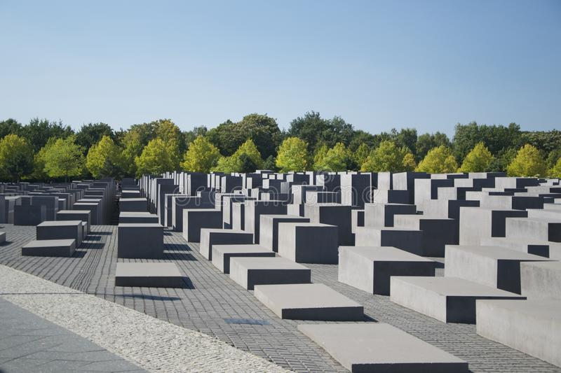 Mémorial aux juifs assassinés de l'Europe, Berlin image stock