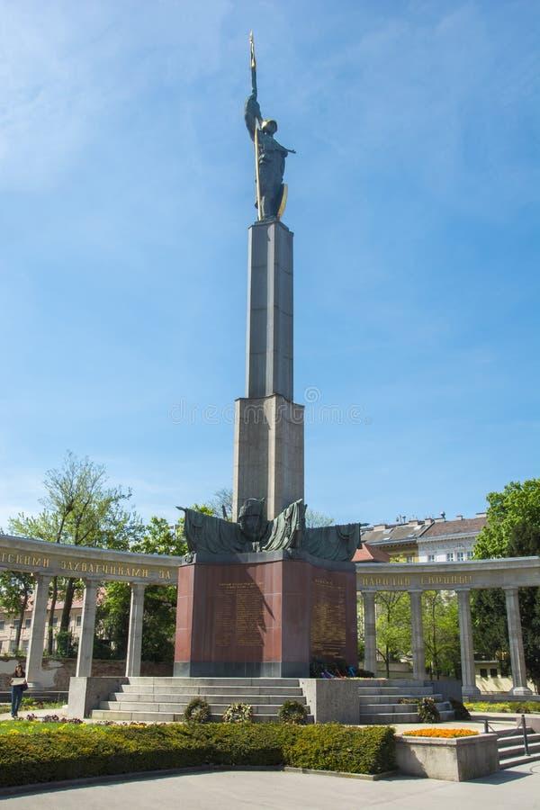 Mémorial aux soldats soviétiques à Vienne, Autriche photos stock