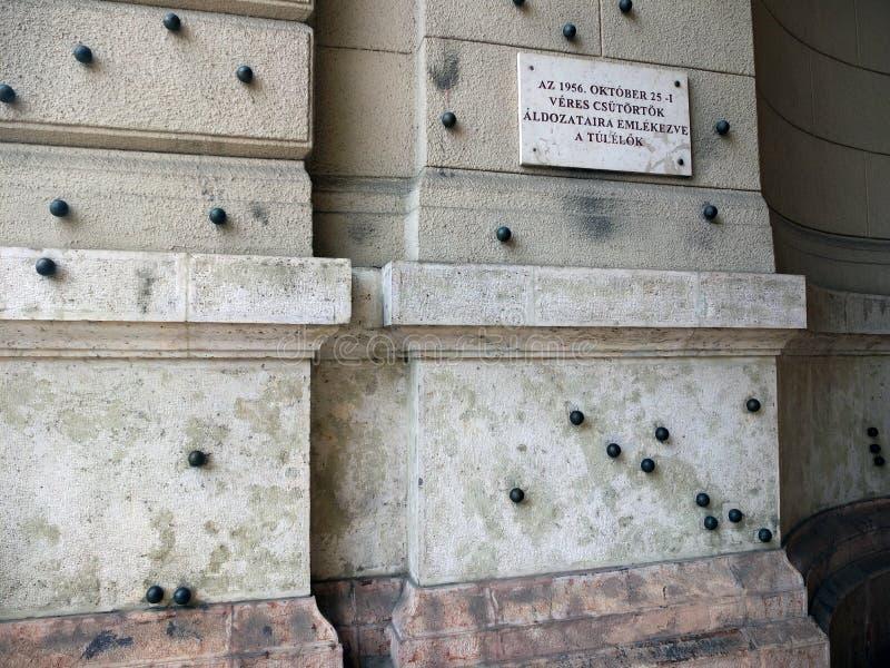 Mémorial aux victimes du 25 octobre 1956 ? image stock