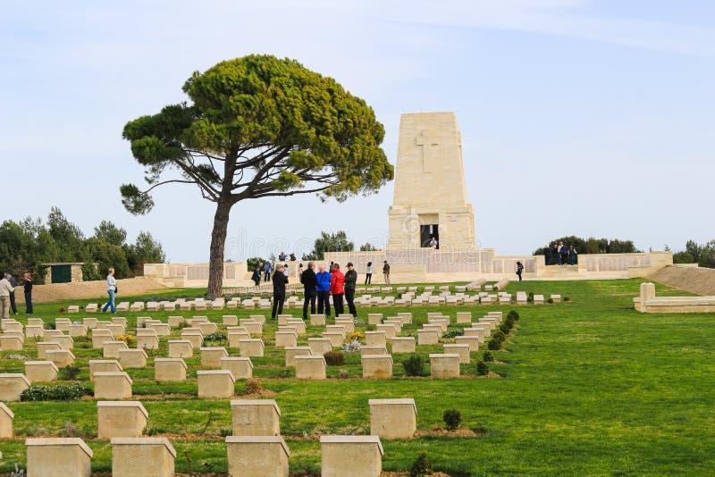 Mémorial avec des noms chez Anzac Turkey photos stock