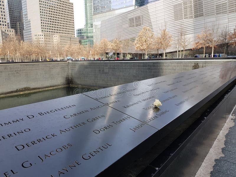 9/11 mémorial beau New York image stock