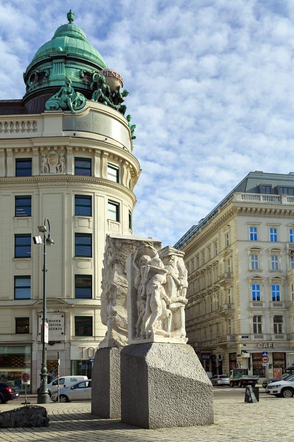 Mémorial contre la guerre et le fascisme Vienne, Autriche images stock