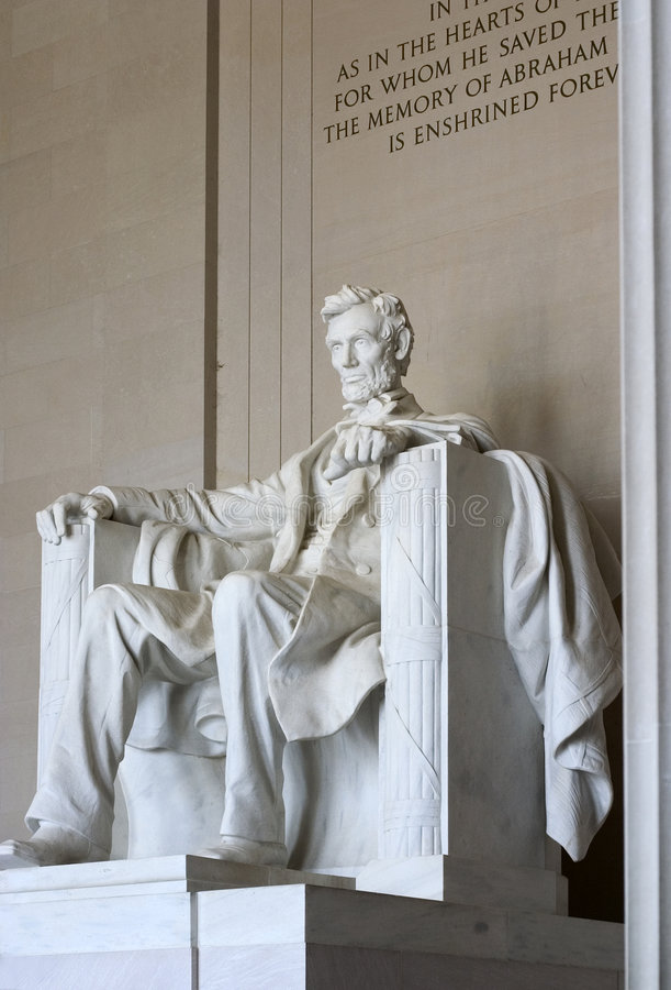 Mémorial d'Abraham Lincoln photo stock