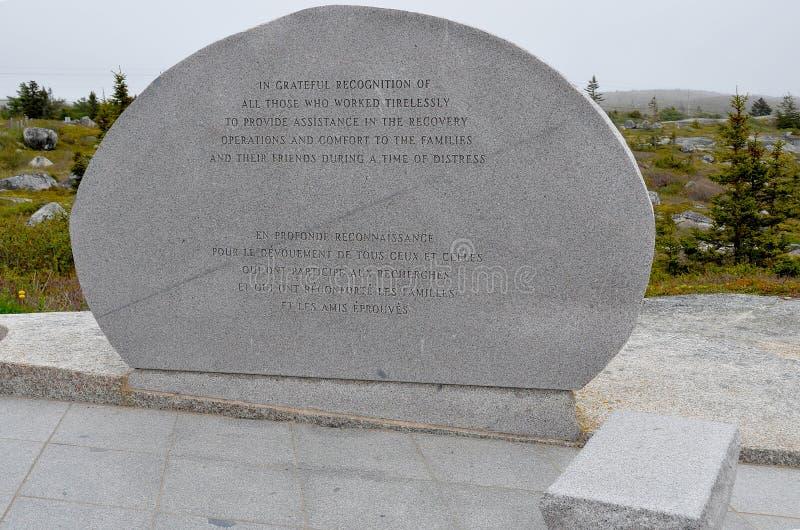 Mémorial d'accident du vol 111 de Swissair photographie stock libre de droits