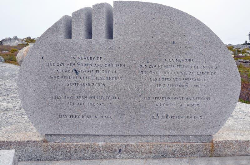 Mémorial d'accident du vol 111 de Swissair photo libre de droits