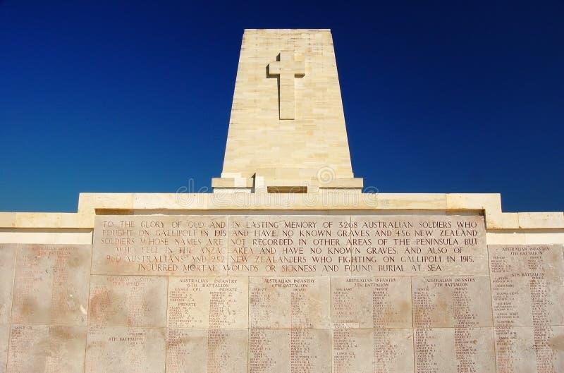 Mémorial d'Anzac au seul pin, Gallipoli photographie stock