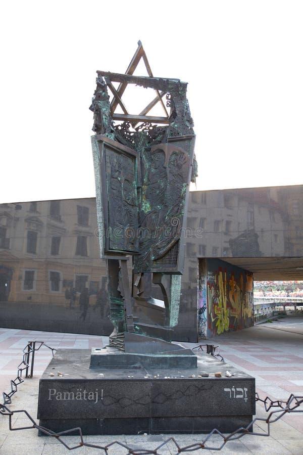 Mémorial d'holocauste à Bratislava, Slovaquie photo stock