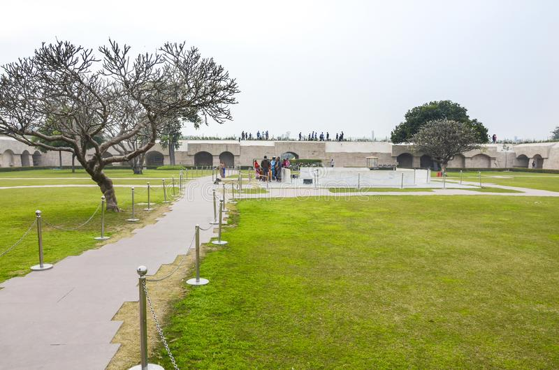 Mémorial d'incinération de Mahatma Gandhi, New Delhi, Inde photos stock