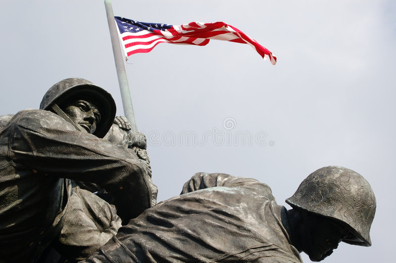 mémorial d'Iwo Jima photos stock