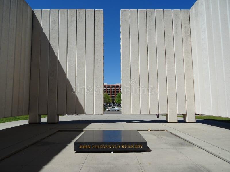 Mémorial Dallas de JFK images libres de droits