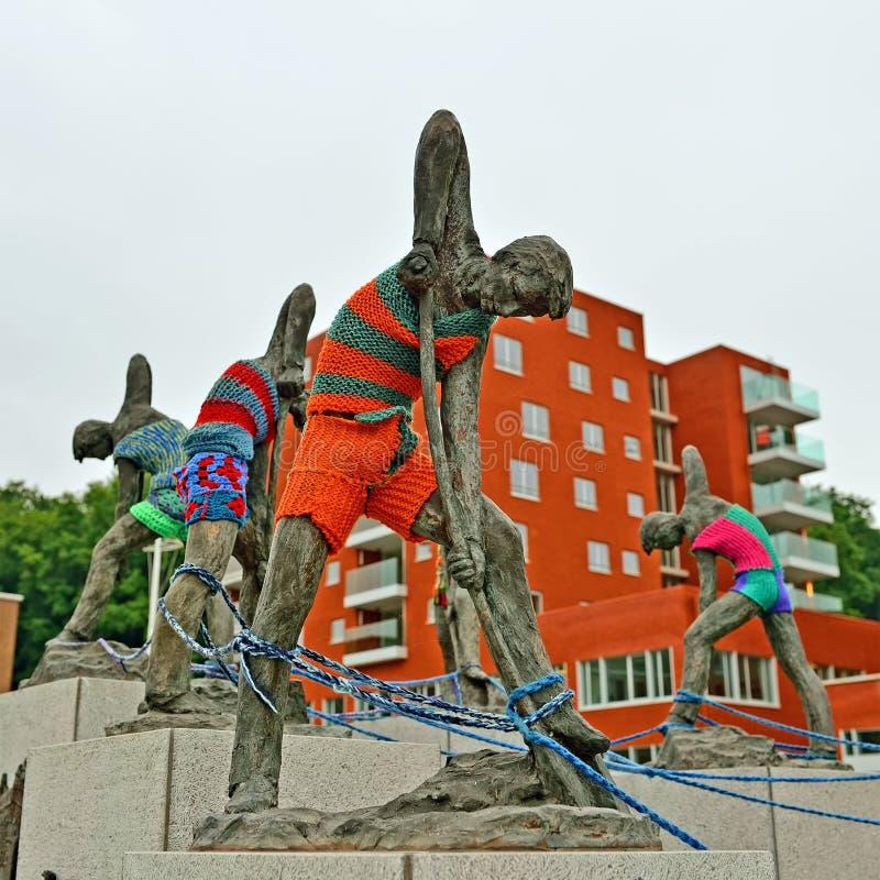 Mémorial de 250 ans du canal, Louvain image libre de droits