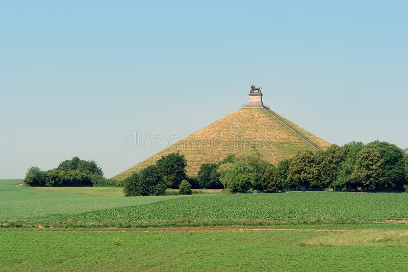 Mémorial de bataille de Waterloo. photo stock