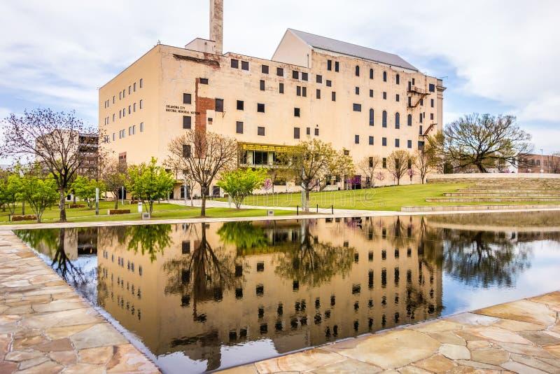 Mémorial de bombardement de Ville d'Oklahoma images libres de droits