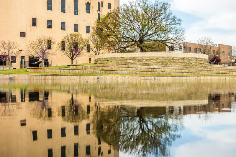 Mémorial de bombardement de Ville d'Oklahoma image libre de droits