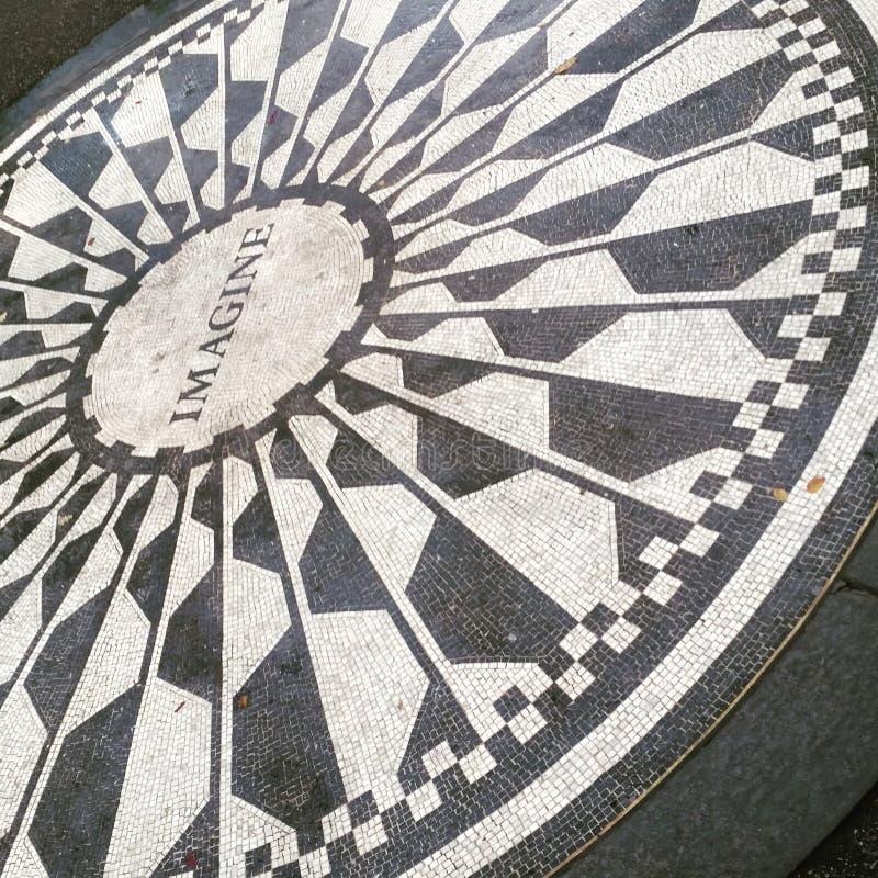Mémorial de Central Park à John Lennon NYC image libre de droits