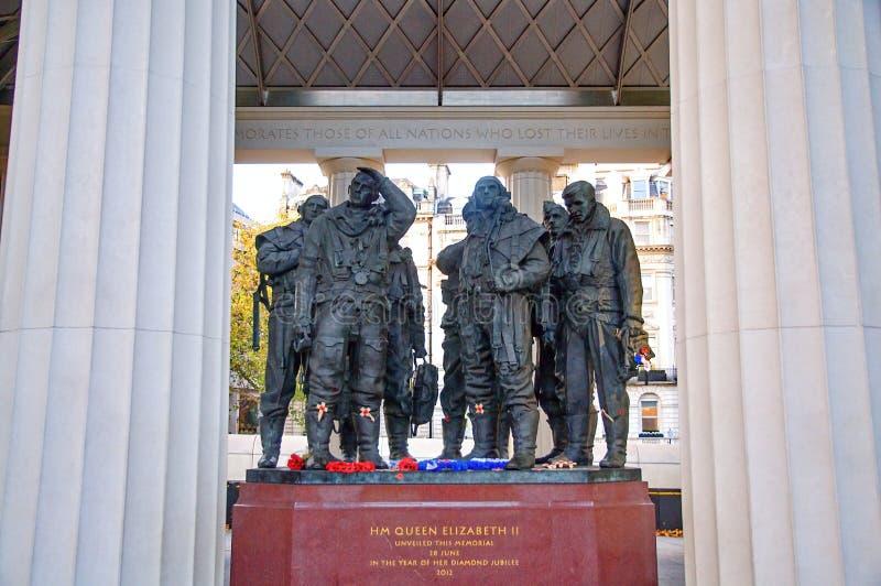 Mémorial de commande de bombardier de Royal Air Force photo stock