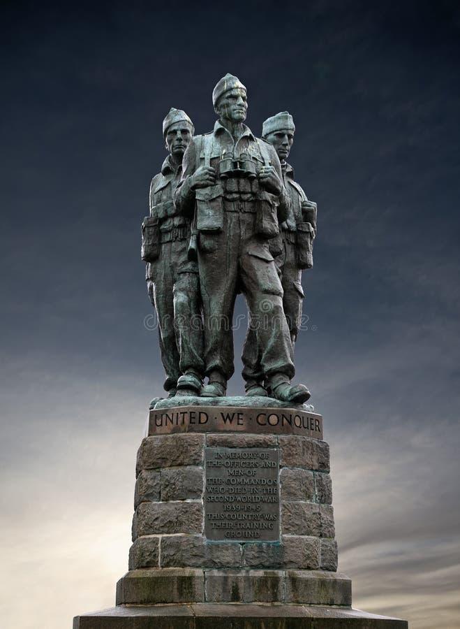 mémorial de commando photographie stock