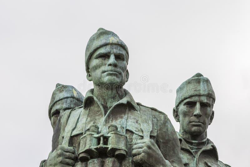 Mémorial de commando au pont de Spean en Ecosse photos libres de droits