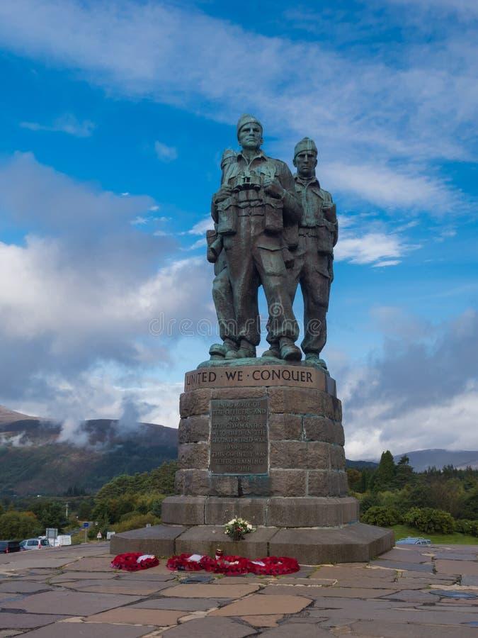 Mémorial de commando dans le pont Ecosse de Spean photos libres de droits