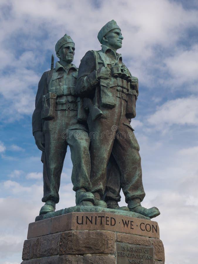 Mémorial de commando dans le pont Ecosse de Spean photo stock