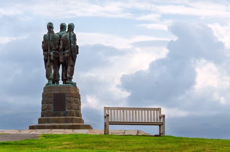 Mémorial de commando, Ecosse photographie stock libre de droits
