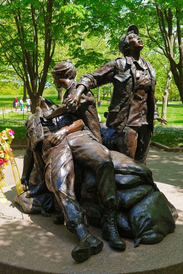 Mémorial de femmes du Vietnam dans le Washington DC Etats-Unis photographie stock