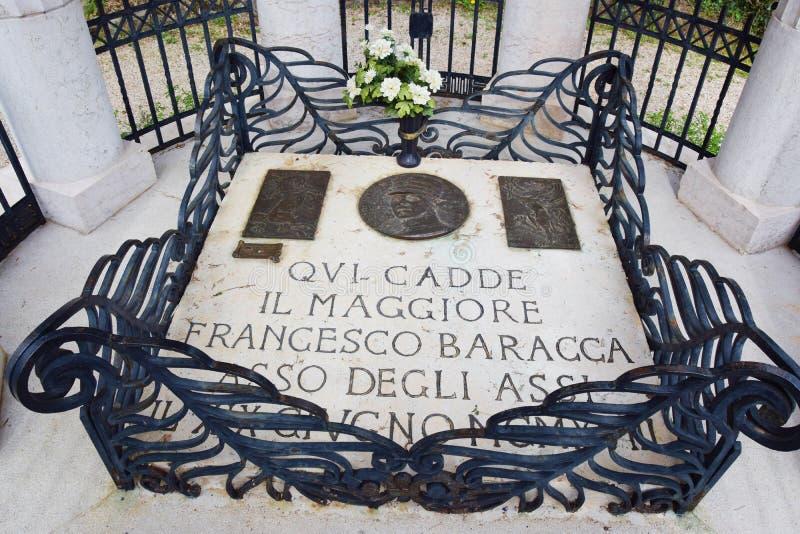 Mémorial de Francesco Baracca, détail, guerre mondiale photographie stock libre de droits