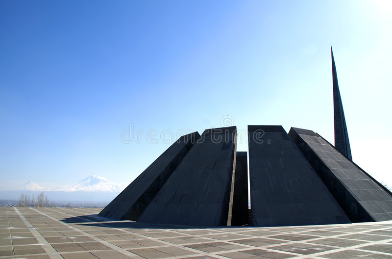 Mémorial de génocide photo stock