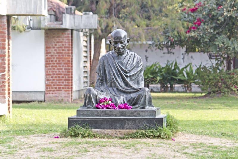 Mémorial de Gandhis de mahatma à Ahmedabad images libres de droits