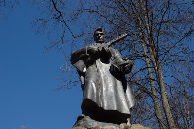 Mémorial de gloire interne aux héros et aux soldats de deuxième W images libres de droits