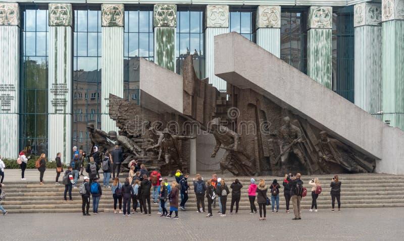 M?morial de guerre dans la vieille ville Varsovie se rappelant le soul?vement 1944 de Varsovie photos stock