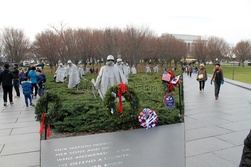 Mémorial de Guerre de Corée de soldats photographie stock libre de droits