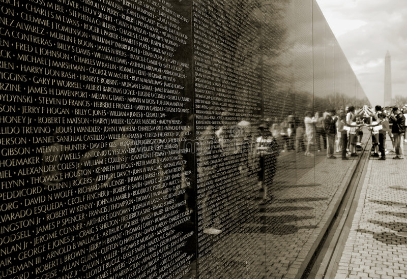 Download Mémorial De Guerre De Vietnam Photo stock - Image du washington, vétérans: 3843492