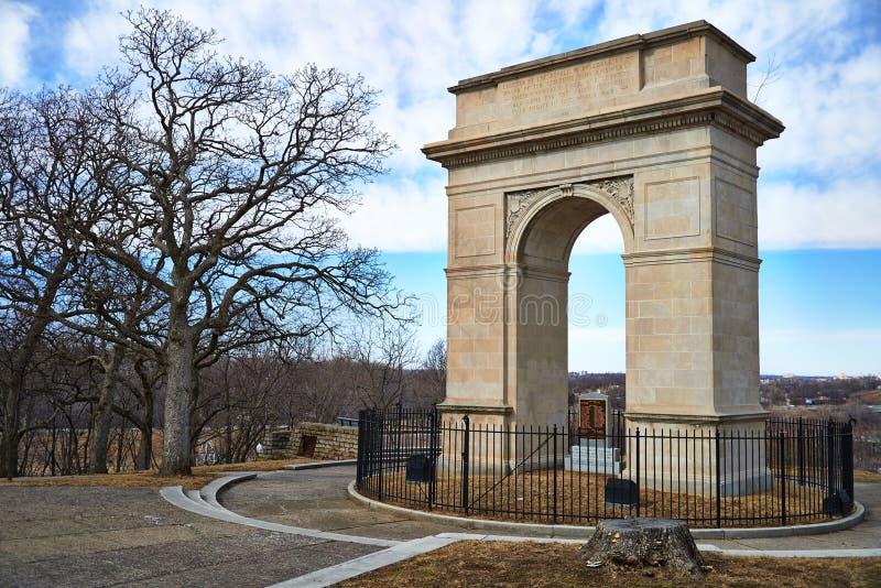 Mémorial de guerre de voûte de Rosedale à Kansas City image libre de droits