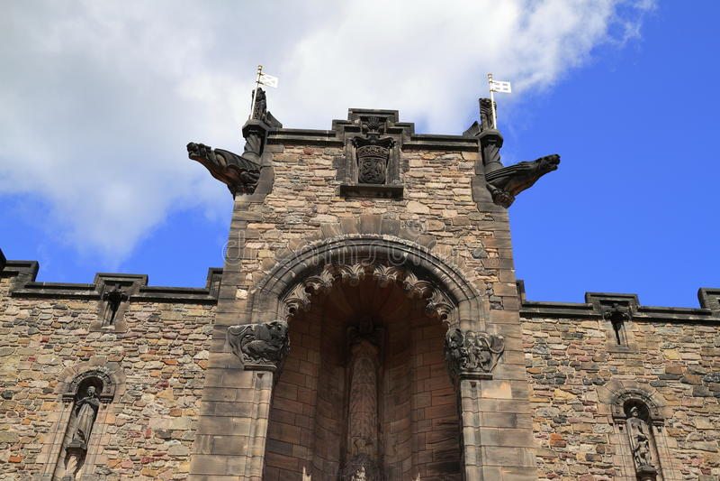 Mémorial de guerre national écossais dans le château d'Edimbourg photos stock