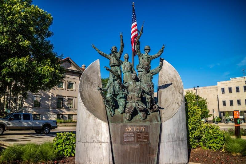 Mémorial de guerre pour ceux qui sont morts en service à la roche River Valley image libre de droits