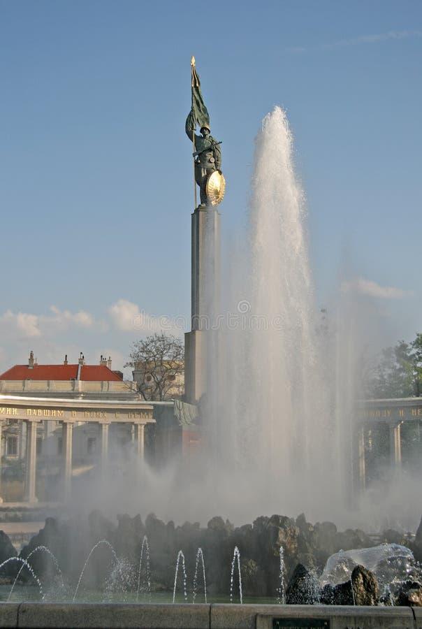 Mémorial de guerre soviétique à Vienne, Autriche photo stock