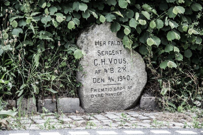 Mémorial de Hokkerup images stock