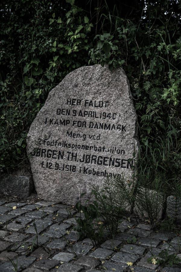 Mémorial de Hokkerup image stock