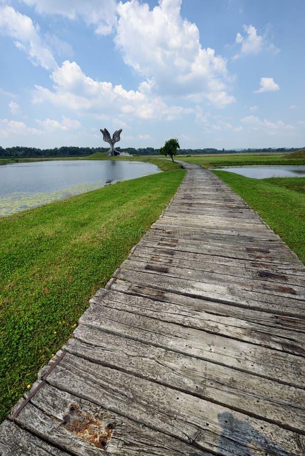 Mémorial de Jasenovac WWII images stock