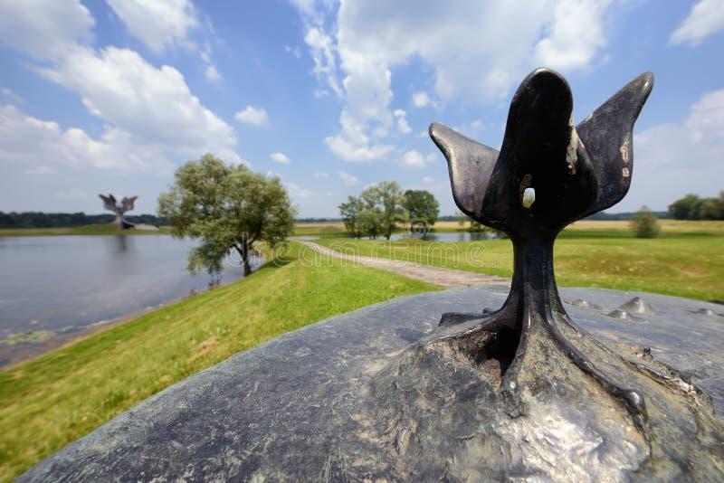 Mémorial de Jasenovac WWII, Croatie image libre de droits
