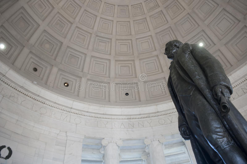 Mémorial de Jefferson images libres de droits
