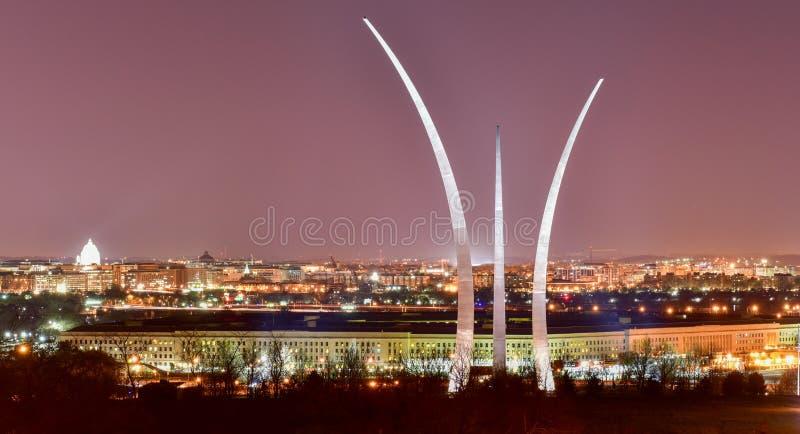 Mémorial de l'Armée de l'Air - Washington, D C images stock